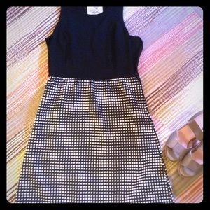 Anthropologie Tabitha Sz 6 black white dress